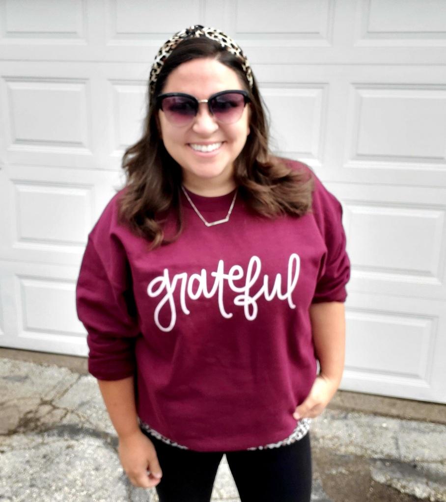 andrea babinski hope and happy designs grateful sweatshirt thanksgiving christmas